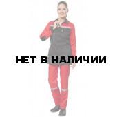 Костюм Пульс NEW женский (черный+красный)