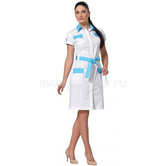 Платье женское LL4102 (бел+гол)