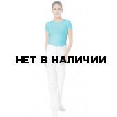 Футболка женская, короткий рукав, (стрейч) цвет бирюзовый СЗ