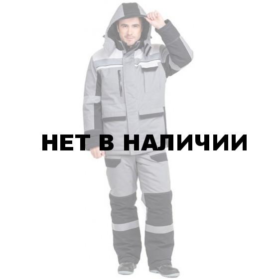 Куртка Виват утепленная мужская цвет серый+черный+св.серый