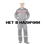 Костюм Рекорд т.серый+черный+красный (мужской)
