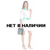 Халат медицинский женский Каприз (цветбел.+салатовый)