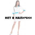 Халат медицинский женский Каприз (цветбел.+св.голубой)