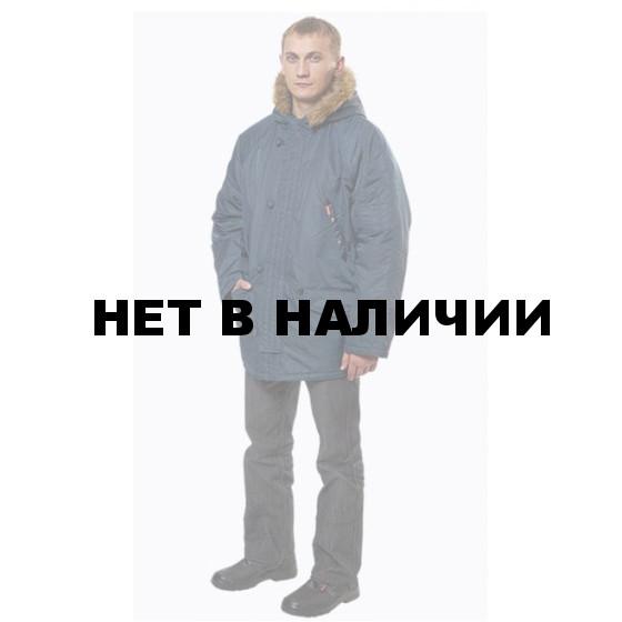 Куртка Аляска(Пионер) удлиненная, ткань нейлон (темно-синяя)