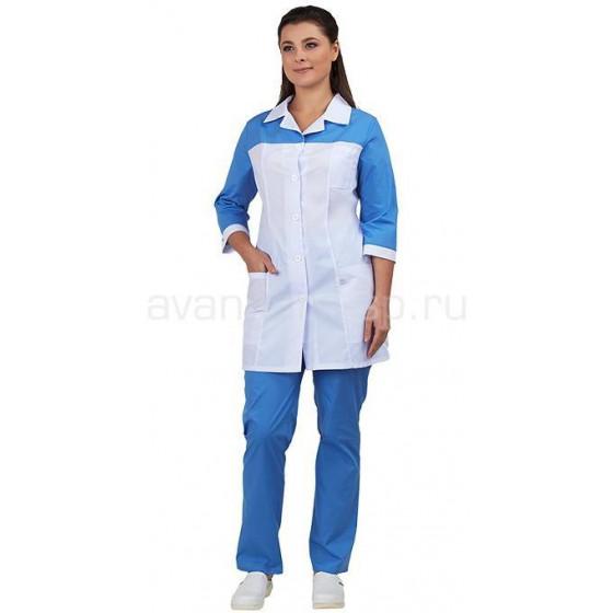 Комплект одежды медицинской женской Дельта (блуза и брюки)