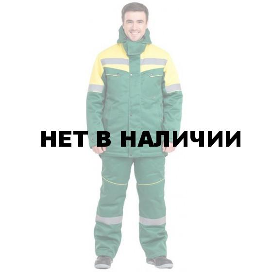 Костюм Монтажник NEW-L утепленный (зел.+желт.)