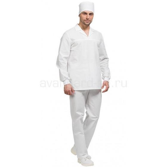Костюм Бейкер с длинным рукавом мужской цвет бел.