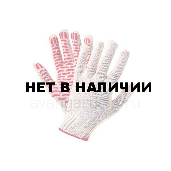 Перчатки х/б с ПВХ Стандарт Волна