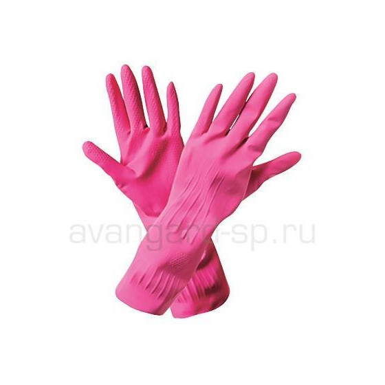 Перчатки латексные хоз. Лотос