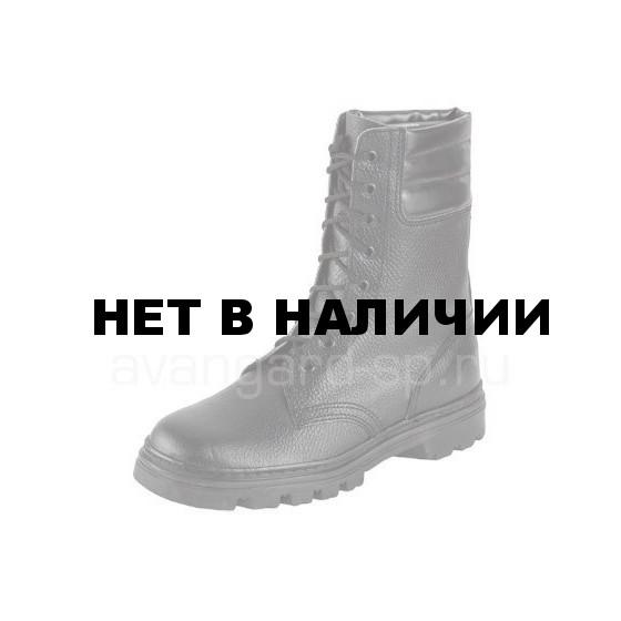 Ботинки ОМОН юфтевые с высоким берцем бортопрош., искусственный мех
