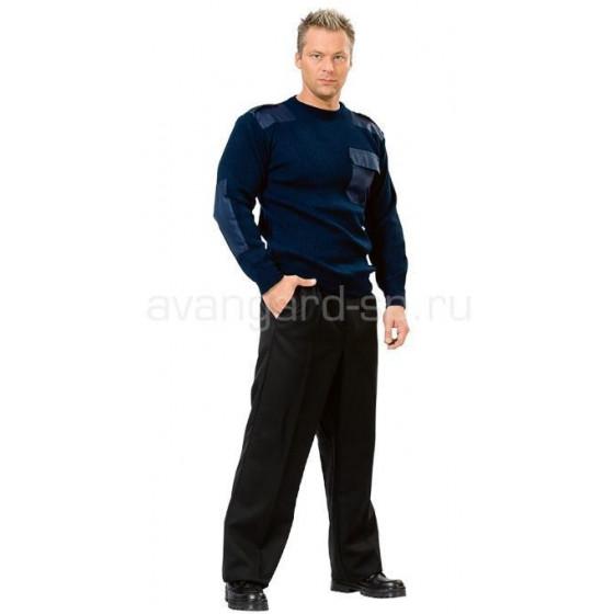 Джемпер форменный с накладками с доставкой