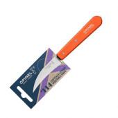 Нож для чистки овощей Opinel №114, деревянная рукоять, нержавеющая сталь, оранжевый, блистер, 001926