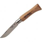 Нож Opinel №4, нержавеющая сталь, рукоять из бука