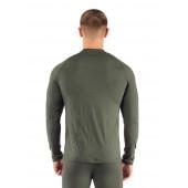 Футболка мужская Atar/ длинный рукав/ шерсть 160/ зеленый / XL