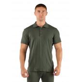 Футболка мужская DINGO/ короткий рукав/ шерсть 160/ зеленый / M