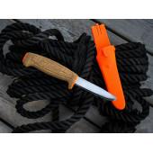 Нож Morakniv Floating Serrated Knife, нержавеющая сталь, пробковая ручка, оранжевый. 13131