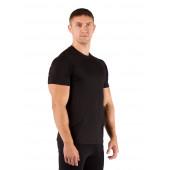 Футболка мужская Quido/ короткий рукав/ шерсть 160/ черный / L (Quido9090L)