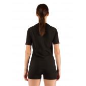 Футболка женская Alba/ короткий рукав/ синтетика/ черный/ L-XL