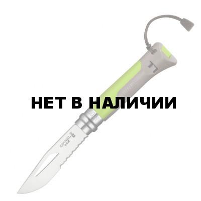 Нож Opinel №8 Outdoor Earth, зеленый