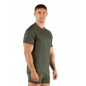 Футболка мужская Quido/ короткий рукав/ шерсть 160/ зеленый / L