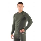Футболка мужская Atar/ длинный рукав/ шерсть 160/ зеленый / L