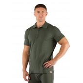 Футболка мужская DINGO/ короткий рукав/ шерсть 160/ зеленый / L