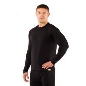 Футболка мужская Atar/ длинный рукав/ шерсть 160/ черный/ XL