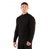 Футболка мужская SWU /, длинный рукав, / комбинир 180/ черный / S