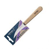 Нож для чистки овощей Opinel №114, деревянная рукоять, нержавеющая сталь, блистер, 001923