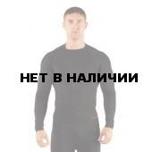 Футболка мужская Apol/ длинный рукав/ синтетика/ черный/ S-M