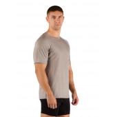 Футболка мужская Quido/ короткий рукав/ шерсть 160/ серый / M