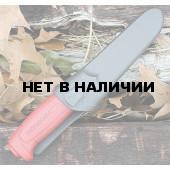 Нож Morakniv Basic углеродистая сталь, пласт. ручка (красный), 12147