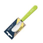 Нож для масла Opinel №117, деревянная рукоять, блистер, нержавеющая сталь, зеленый, 001935