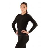 Футболка женская Atala/ длинный рукав/ синтетика/ черный/ L-XL