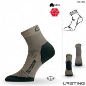 Носки Lasting TCC 769, cotton+polypropylene, бежевый, размер S (TCC769S)