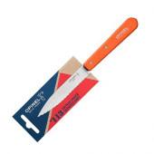 Нож столовый Opinel №113, деревянная рукоять, блистер, нержавеющая сталь, оранжевый, 001921