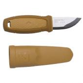 Нож Morakniv Eldris, нержавеющая сталь, цвет желтый, ножны, шнурок, огниво, 13523