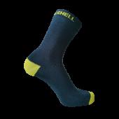 Водонепроницаемые носки DexShell Ultra Thin Crew L (43-46), синий/желтый