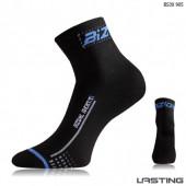 Носки Lasting BS30 905, microfiber+nylon, черный с синий полоской, размер S (BS30905S)
