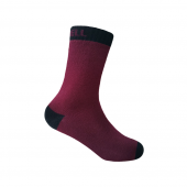 Водонепроницаемые носки детские DexShell Ultra Thin Children Socks S (16-18 см), бордовые