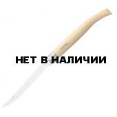 Нож филейный Opinel №15, нержавеющая сталь, рукоять из дерева бука