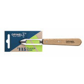 Нож для чистки овощей Opinel №115, деревянная рукоять, нержавеющая сталь, блистер, 001928