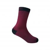 Водонепроницаемые носки детские DexShell Ultra Thin Children Socks L (20-22 см), бордовые