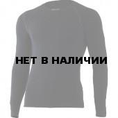 Футболка мужская WOLF/ длинный рукав/ шерсть 200/ черный/ S/M