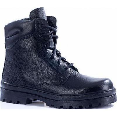Зимние ботинки с высокими берцами ПИЛОТ кожа-искуственный мех 180