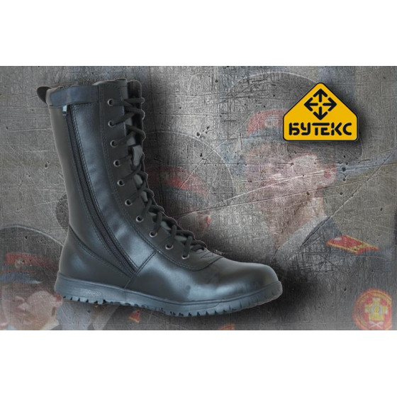 Ботинки с высокими берцами ЭКСТРИМ ZIP кожа 7301