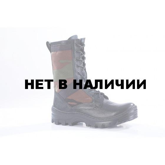 Ботинки облегченные с высокими берцами ТРОПИК кожа-нейлон woodland 1000D 716Б