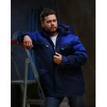 Куртка БАЙЕР утепленная, ткань Смесовая, цвет т.син-василек