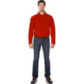 Рубашка Поло с длинным рукавом цвет Красный