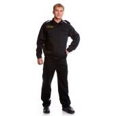 Костюм ЩИТ (куртка+брюки), ткань смесовая, цвет черный